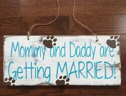 Wedding & Engagement Custom Dog Themed Double Sided Signage