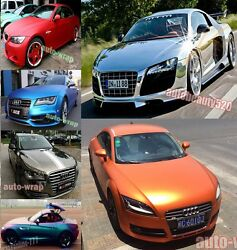 Optional ALL - Car Wrap 3D 4D 5D Carbon Fiber Glossy Mirror Chrome Vinyl Sticker