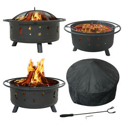 Fireplace Backyard Wood Burning Heater Steel Bowl Patio Deck Fire Pit Outdoor