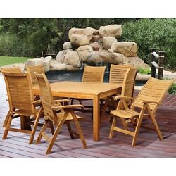 International Home Amazonia Teak 9 Piece Square Patio Dining Set