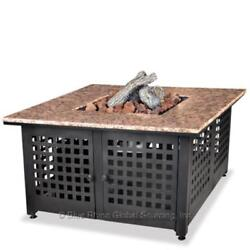 UniFlame GAD1200B Granite Propane Outdoor Fireplace