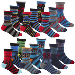Kids Childrens Boys Novelty Cotton Socks Football Gaming Multipack 6 9 Pairs GBP 6.99