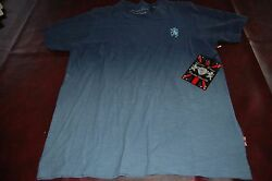 NWT MSRP $40 Lions Crest by English Laundry Cotton Designer Shirts Blue V Neck