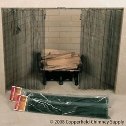 Chimney 61078 Fireplace Spark Screen Mesh Curtain Set - 48 Inches x 20 Inches. B