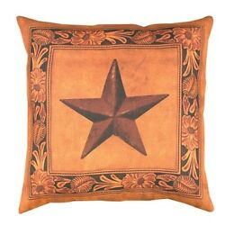 50cm Outdoor Deck and Patio Country Rustic Lonestar Square Throw Pillow. Shippin