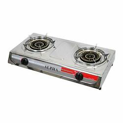 NEW DOUBLE HEAD BURNER OUTDOOR CAMPING PORTABLE PROPANE GAS STOVE $69.99