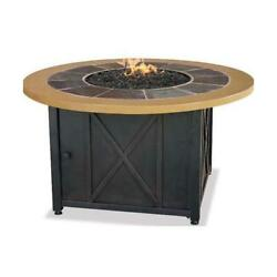 Blue Rhino GAD1362SP LP GAS OUTDOOR FIREBOWL WITH SLATE AND FAUX WOOD MANTEL