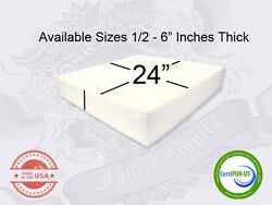 24quot; x 24quot; Square Upholstery Cushion Replacement Foam Sheet FREE SHIPPING $15.00