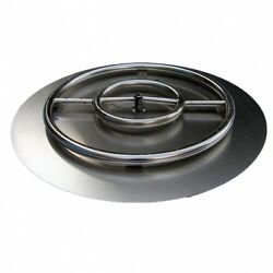 HearthDistribution FPK-OBRSS-24R 60cm SS Fire Pit Ring Burner with Pan. Delivery
