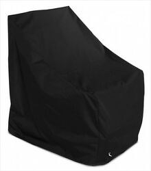 KoverRoos 72750 Weathermax Adirondack Chair Cover Black - 37 W x 40 D x 41 H in.