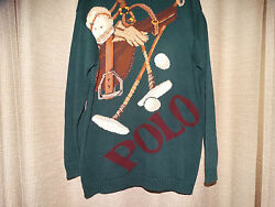 vintage rare RALPH LAUREN POLO spell out graphic sweater excellent medium
