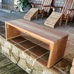 Best Redwood Solid Backless Garden Bench. Free Shipping
