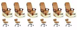 Fior 5112 (CPO) Pedicure Chair Pack of 6  Free Stool & Curbside Delivery