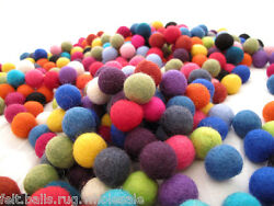 Decoration Pom Pom 2 cm Pure wool Felt Balls Nursery Craft Christmas  Garland