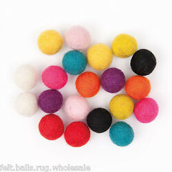 Christmas Nursery decoration Pom Pom 2 cm Pure wool Felt Balls Craft Garland