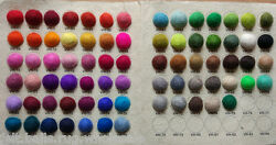 Christmas decoration Choose Color Pom Pom 2cm Pure wool Felt Balls Nursery Craft