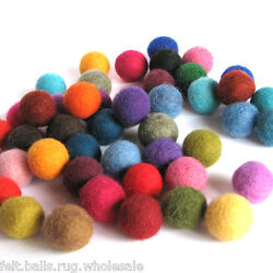 Multi-color wool Felt Balls Christmas Nursery Garland decoration 2cm Pure wool