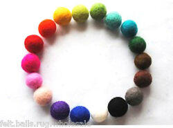 Multi-color Felt Balls Garland wool Christmas Nurserydecoration 2cm Pure wool