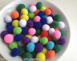 New Multi-color Nursery Felt Balls Christmas decoration Garland wool 2 cm Balls