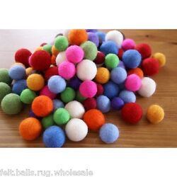 New Multi-color Pom Pom Felt Balls Christmas decoration Garland wool 2 cm Balls