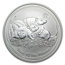 2008 Australia 1 oz Perth .999 Silver Lunar Mouse (from mint roll) $41.95