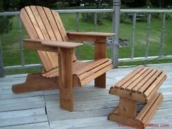 ADIRONDACK LAWN CHAIR woodworking plans wood shop plan Full Size Pattern Sheets