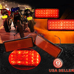 2pcs Motorcycle Truck 12V Red 24 SMD LED Reflector Tail Brake Stop Marker Light $8.96