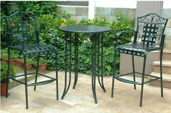 Patio Sets Furniture On Sale Wrought Iron Bistro Bar Height Outdoor Conversation