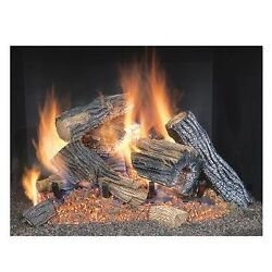 Sure Heat River Oak Vented Gas Log Set Outdoor Fireplaces  Fire Pits Heating New