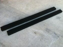 (2) Extra Wide - BLACK - 6' Boat Trailer Bunk Boards 2x6 - w Marine Carpet