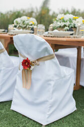 Folding Polyester Chair Covers Wedding Party Banquet 3 Colors Free USA Shipping! $19.99