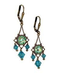 Boho Vintage Style Crystal Chandelier Earrings for Women Jewelry Gift for Her $24.97