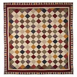 Patch Magic Queen Rustic Cabin Quilt 85in by 95in New