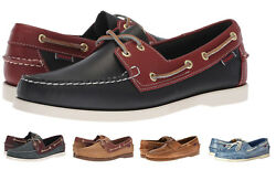 Sebago Docksides Men's NEW Classic 2-Eye Leather Boat Shoes Slip On Casual Shoes