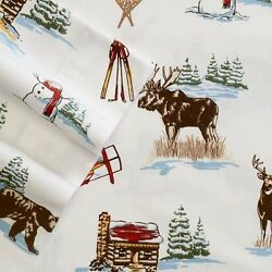 Ship from USA SKI LODGE King FLANNEL Sheet Set NEW 4pc Cuddl Duds Winter Cabin M
