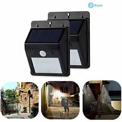 Solar Powered Light Outdoor Lamp Motion Sensor Security Wall Light 8 Bright Sola