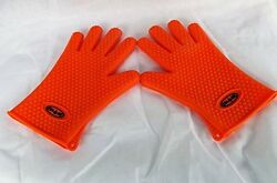 bbq Gloves for Oven Barbecue Campfire Fireplace or Smoker five finger gloves. US