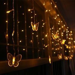 Weanas Solar Power String Fairy Lights 60 Butterfly Style LEDs Warm White 36ft 1