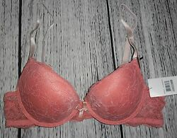 Womens Marilyn Monroe Carnation Coral Natural Lift Bra Size 34C NEW WITH TAGS!