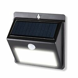 Solar Motion Sensor Lights Hetekell Super Bright Outdoor 12 LED Solar Powered Wa