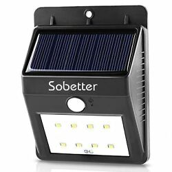 8 LED Motion Sensor Solar Lights Outdoor Wireless Waterproof Security Wall Light