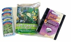 Indoor Herb Garden Seed Starter Kit Includes Mini Greenhouse Potting Mix 4 Seed