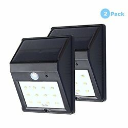 Solar Powered Light Motion Sensor LED Light Wireless Wall Lamp Outdoor Security