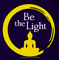 Be The Light Small Bumper Sticker Decal $6.95