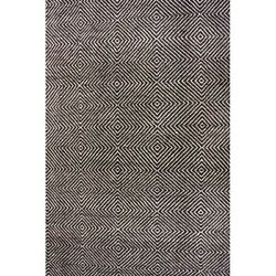 Nuloom 10' X 14' Hand Woven Ago Rug Area Rugs Natural Fibers Wool In Black