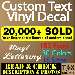 Custom Vinyl Lettering Decal Personalized Sticker Business Sign Text Name Door $41.95