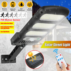 213LED Outdoor Solar Street Wall Light Sensor PIR Motion LED Lamp Remote Control $20.28