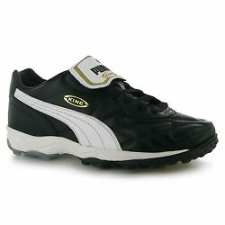 Puma King Allround Mens Astro Turf Trainers BlkWhtGld Football Soccer Boots