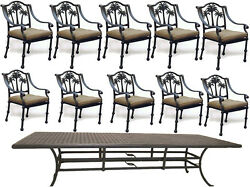 Outdoor Dining Set 11 Piece Patio Table 46