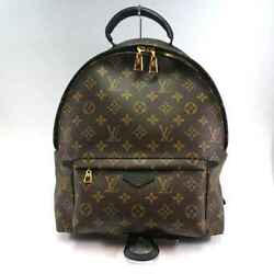 LOUIS VUITTON LV Monogram Canvas Palm Springs Backpack MM Leather Rucksack Bag